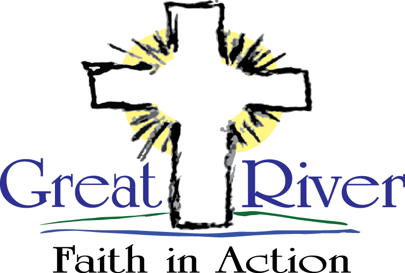 great river faith in action logo